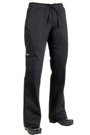 Chef Works Black Cargo Womens Chef Pants