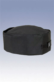 Black Double-Rimmed Beanie Chef Hat