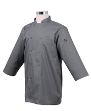 Basic 3/4 Sleeve Chef Coat, Gray