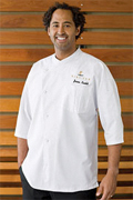 Positano Signature Series Cool Vent 3/4-Sleeve Chef Coat