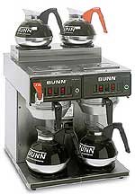 Bunn CWTF 2/2 Automatic Coffee Brewer with 4 Burners