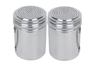 Commercial Stainless Steel Sugar Shaker, Sugar Pourer, Dredge - Set of 2