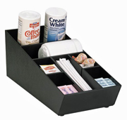 Dispense-Rite Countertop Stackable Lid, Straw and Condiment Organizer