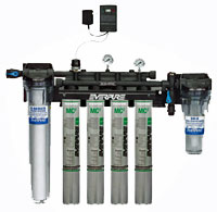 Everpure High Flow CSR Quad Water Filter System With Low Pressure Alarm