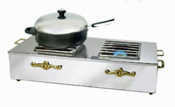 Eastern Tabletop Stainless Steel Double Butane Stove Cover-Up