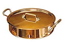 De Buyer 3.8 Quart Saute Pan with Lid and Handles