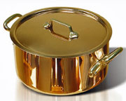 de Buyer Copper Stewpan - 7.9 Quart
