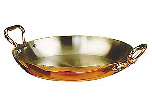 Eurodib / de Buyer 8-3/4 Inch Copper Round Pan