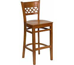 Flash Furniture Lattice Back Wooden Barstools - Set of 4