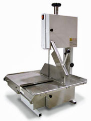 Table Top Band Saw With 74 Inch Blade and Sliding Stainless Steel Table