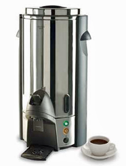 Focus Regalware Stainless Steel Coffee Percolator With Press Lever, 100 Cups
