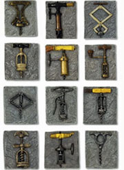 Birmingham Antique Corkscrew Magnet Collection - 3591SET-BU