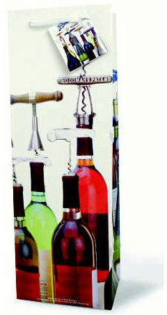 Corkscrew Collection Wine Gift Bags, One Dozen