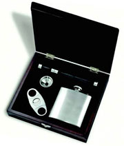 Cigar Gift Set With Flask
