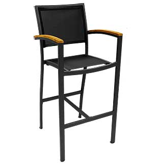 Florida Seating Outdoor Barstool BAL-5624 With Black Frame