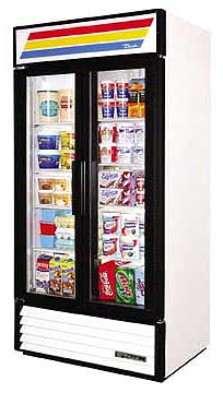 True Glass Door Refrigerator GDM-35 - 2 Swing Doors