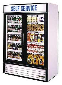 True Rear Load Refrigerator GDM-49RL-HC-LD - 2 Swing Doors