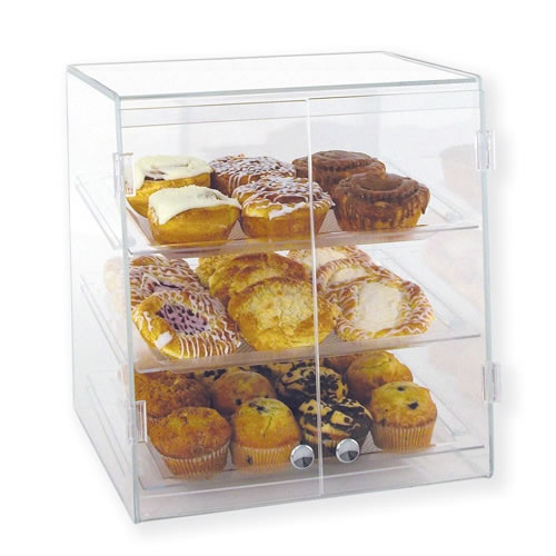 Golfleaf Three Tier Slant-Front Bakery Display Case (Self-Serve) - BDT3W