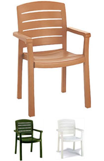 Grosfillex Acadia Classic Stacking Dining Armchair