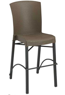 Grosfillex Havana Wicker Stacking Barstool