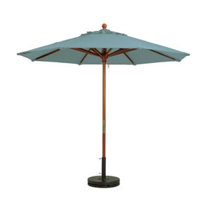 Grosfillex Market Umbrella - Spa Blue, 9 Ft