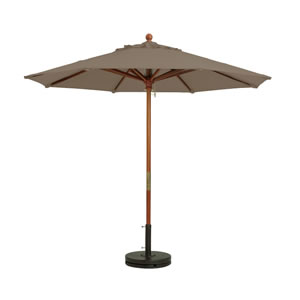 Grosfillex Market Umbrella - Taupe, 9 Ft
