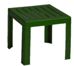 Grosfillex Bahia Exterior Low Table, Amazon Green - CT052078