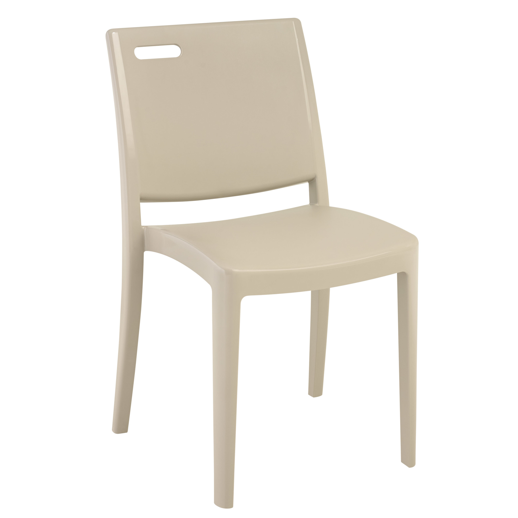 Grosfillex Metro Stacking Dining Side Chairs Set of 4