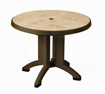 Grosfillex Siena 38 Inch Round Folding Outdoor Table