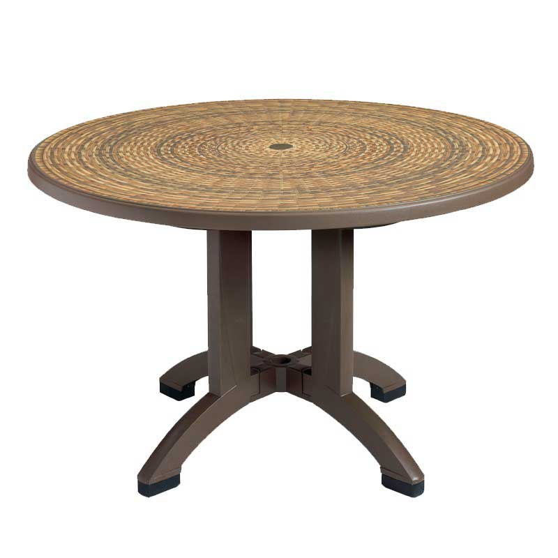 Grosfillex Havana 48 Inch Round Pedestal Table