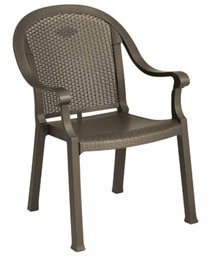 Grosfillex Sumatra Classic Stacking Dining Armchair, Set of 4 - 99720037