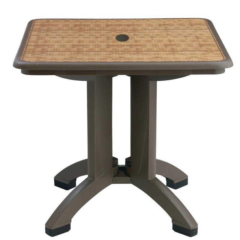 Grosfillex Havana 32 Inch Square Folding Outdoor Tables