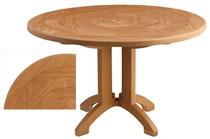Atlantis Teakwood 48 Inch Round Pedestal Table
