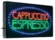 International Patterns Lighted LED Cappuccino Espresso Sign