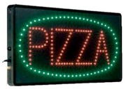 International Patterns Lighted LED Pizza Sign