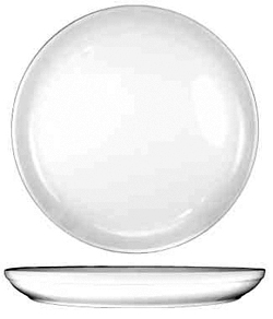 13-1/2 Inch Ceramic Pizza Plate, Case of 6, European White - PZ-14-EW