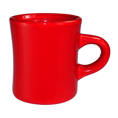 Iti Ceramic Diner Coffee Mugs 3 Dozen 10 Ounce Crimson