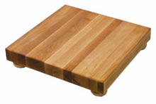 John Boos Maple Cutting Board B12S, 12x12 With Wooden Legs