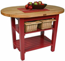 John Boos Butcher Block Eliptical C-Table