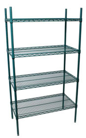 Complete Green Epoxy Shelving Unit
