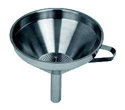 """Stainless Steel Funnel, 5"""" With Removable Strainer - SLFN005"""
