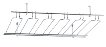"Overhead Glass Rack, 18"" x 48"", 11 Channel"