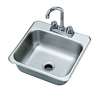 Krowne Drop-in Stainless Sink With Goosneck