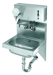 Krowne Wall Mounted Hand Sink With Soap & Towel Dispenser
