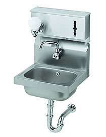 Krowne Stainless Hand Sink With Soap & Towel Dispenser