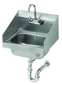 Krowne Hand Sink with Side Splash Guards