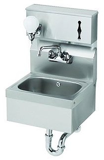 Krowne Wall Mount Sink with Soap & Towel Dispenser