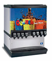 SerVend 10 Valve Ice / Beverage Dispenser with 250 Lbs Ice Capacity