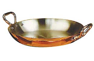 Matfer Tin Lined Copper Egg Pan