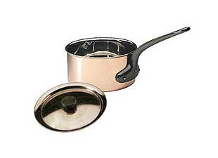 Matfer 4-3/4 Inch Copper Sauce Pan with Cover